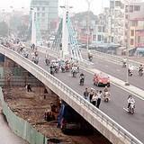 Xây cầu vượt nhẹ rộng 9m tại nút giao Phú Thượng