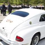 """Ngoại trưởng Nga đi chiếc xe """"Chiến thắng"""" đến gặp ông Kerry"""