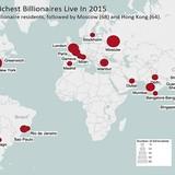 20 thành phố có nhiều tỷ phú nhất thế giới