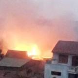 Cháy xưởng mộc gây thiệt hại hàng trăm triệu đồng
