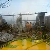 Cháy dữ dội tại cơ sở Trường Tím