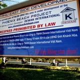Tập đoàn nước ngoài cắm biển cấm xâm phạm bãi biển Nha Trang