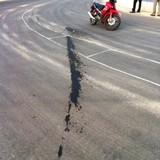 Cận cảnh vị trí quốc lộ 1 mới bị phá hoại bằng hóa chất