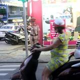 Sau chỉ đạo của bí thư, cảnh sát giao thông Đà Nẵng tổng lực ra đường