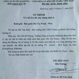 Cảnh sát giao thông xin vật tư của doanh nghiệp cho trưởng công an huyện xây nhà