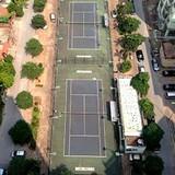 """Gần 3.000m2 """"đất vàng"""" công viên bị hô biến thành sân tennis"""