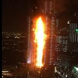 Cháy dữ dội ở khách sạn Dubai gần tòa tháp cao nhất thế giới