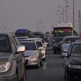 Xe khách hỏng lốp, cao tốc Pháp Vân - Cầu Giẽ ùn tắc nghiêm trọng