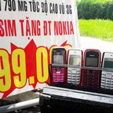 """Bán sim tặng điện thoại """"cục gạch"""" ở TP HCM"""
