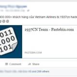 Thông tin 400.000 hành khách của Vietnam Airlines có thể chứa mã độc
