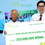 Quỹ gia đình Herbalife tiếp tục tài trợ 446 triệu đồng cho trẻ em cơ nhỡ