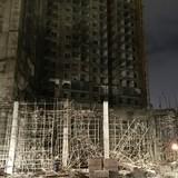 Đình chỉ công trình tổ hợp 33 tầng bị sập giàn khiến 6 người bị thương