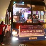 Khởi hành 2 chuyến xe miễn phí  đầu tiên  về quê đón Tết của FLCbus
