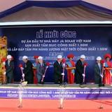 Tạm dừng thi công dự án của Công ty JA Solar tại khu công nghiệp Quang Châu