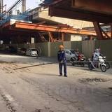 Cảnh cáo sếp nhà thầu Posco vì ống thép rơi từ đường sắt trên cao
