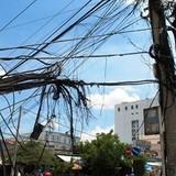 Cháy lớn đường điện, cáp viễn thông