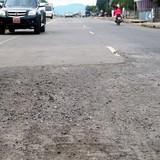Quốc lộ mới làm đã hỏng