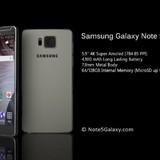 Rò rỉ hình ảnh thực tế của Samsung Galaxy Note 5