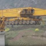 Cỗ máy xây cầu gần 1.000 tấn ở Trung Quốc
