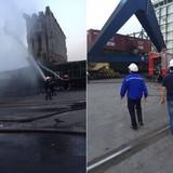 Hải Phòng: Cháy container chở phốt pho ở cảng Nam Hải