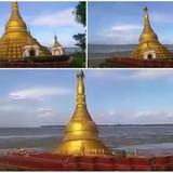Lũ sông nhấn chìm chùa dát vàng ở Myanmar