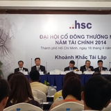 ĐHĐCĐ HSC: Lợi nhuận quý I/2015 đạt 47,7 tỷ đồng, bằng 15% kế hoạch năm