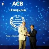ACB nhận giải thưởng Ngân hàng Việt Nam có dịch vụ khách hàng tốt nhất 2015