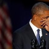 Ông Obama rơi nước mắt khi cảm ơn vợ trong bài phát biểu chia tay Nhà Trắng