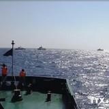 Tàu Việt Nam tiến sâu hơn vào khu vực đặt giàn khoan trái phép