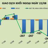 Phiên 20/8: Khối ngoại bán ròng phiên thứ 6 gần 112 tỷ đồng