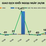 Phiên 24/8: Tin xấu làm khối ngoại bán tháo SKG và HT1