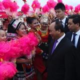 Những hình ảnh đầu tiên của Thủ tướng Nguyễn Xuân Phúc trong chuyến thăm Trung Quốc