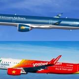 """Thị giá cổ phiếu hàng không và câu chuyện """"hãng hàng không lớn nhất"""""""