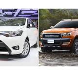 """Toyota Vios hay Ford Ranger """"thống trị"""" trong top xe ăn khách?"""