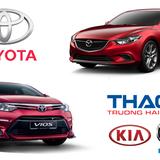 """Thị phần ô tô tháng 7: Toyota và Thaco """"đổi chiều"""""""