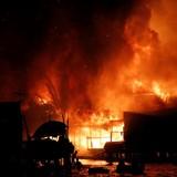 Đang cháy lớn tại công ty may ở Sài Gòn