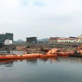 Móng Cái làm cầu phao xuất nhập khẩu hàng hóa với Trung Quốc