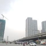 """Cao ốc dọc đường vành đai 3 Hà Nội """"đua"""" chiều cao"""