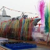 Trung Quốc ra mắt tàu chiến tự đóng mới