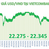 Tỷ giá trung tâm tăng 11 đồng, Techcombank bất ngờ tăng mạnh giá mua USD