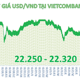 """Tỷ giá trung tâm tăng mạnh, ngân hàng tăng """"nhỏ giọt"""" giá USD"""