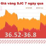 Vàng SJC tăng gần 4,2% giá trong tháng 7