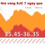 Giá vàng SJC bất ngờ lao dốc trong phiên cuối cùng của năm