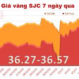 """Giá vàng SJC """"đổ đèo"""", mở rộng khoảng cách với vàng thế giới"""