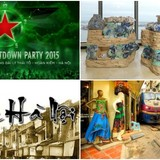 Countdown Parties in Vietnam Waving as Curtain Falls on 2015