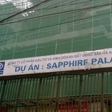 Cận cảnh dự án Sapphire Palace số 4 Chính Kinh nợ thuế hơn 10,5 tỷ đồng