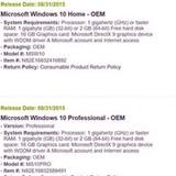 Lộ giá bán và thời điểm phát hành của Windows 10 OEM