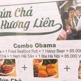 Việc in hình Obama lên menu của quán bún chả Hương Liên là phạm luật?