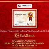 Seabank nhận giải thưởng danh giá của tổ chức Capital Finance International