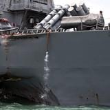 Mỹ sắp đưa chiến hạm bị đâm thủng từ Singapore về Nhật